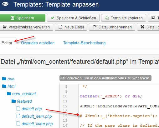 Joomla 3 Templates verstehen - HEAD - Teil1: Basics - GHSVS-Dein Web ...